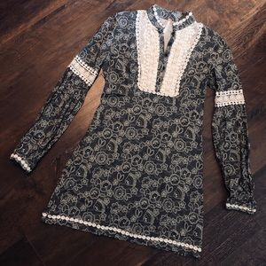 EUC Free People Boho Peasant Top/Mini Dress